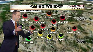 13 First Alert Las Vegas Weather Forecast for August 21 including eclipse forecast - Video