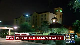 Mesa officer found not guilty of murder - Video