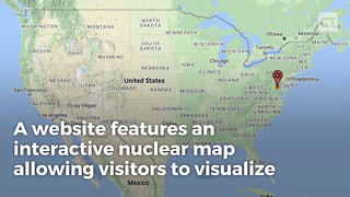 Interactive Nuke Map Shows What A Nuke Attack Would Look Like - Video