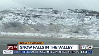 Snow at Red Rock Canyon - Video