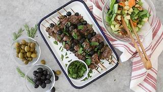 Rosemary Olive Steak Skewers - Video