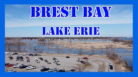 Brest Bay Lake Erie (Sterling State Park) Aerial View 2021
