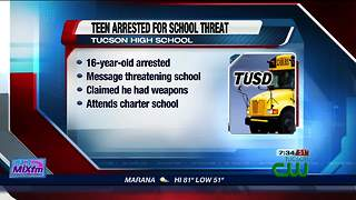 Police arrest teen who allegedly threatened Tucson High - Video