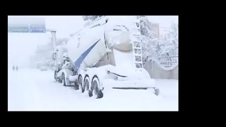 Heavy Snowfall Covers Town in North Algeria - Video