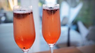 Blackberry Champagne Cocktail - Video