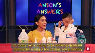 Anson Wong, boy genius, makes elephant toothpaste | Anson's Answers - Video