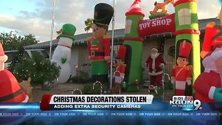 Christmas decorations stolen from east side home