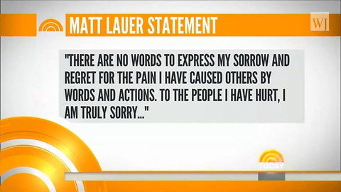 'There Is Enough Truth In These Stories': Matt Lauer Responds to Allegations and NBC Departure