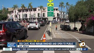 Project to repair sea cave, road in La Jolla Shores completed