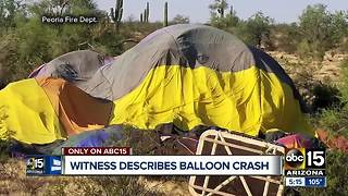Witness describes watching hot air balloon crash - Video