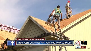 How outdoor workers stay safe in excessive heat