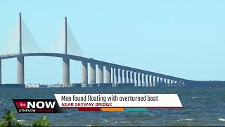 Men found floating with overturned boat - Video