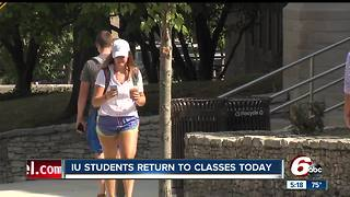 IU students return to classes - Video