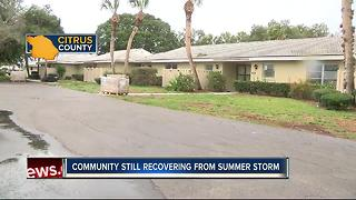 Community still recovering from summer storm
