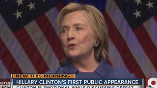 Hillary Clinton's first public speech since concession - Video
