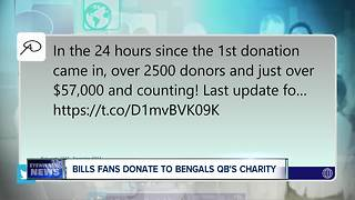 Bills fans donate thousands to Cincinnati Bengals QB's charity after securing playoff spot - Video