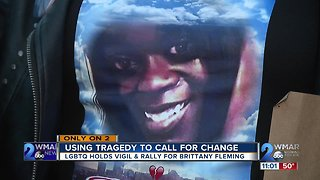 LGBTQ Community Holds Vigil and Rally for Brittany Fleming