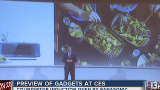 Panasonic countertop induction oven at CES - Video