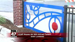 East Lansing fence transformed into piece of art