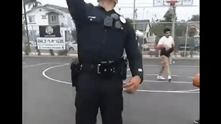 LAPD Officer's Basketball Trick Shot Delights Neighborhood Kids