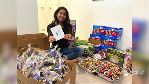 Hillsborough County teen raises money to make care packages for healthcare workers