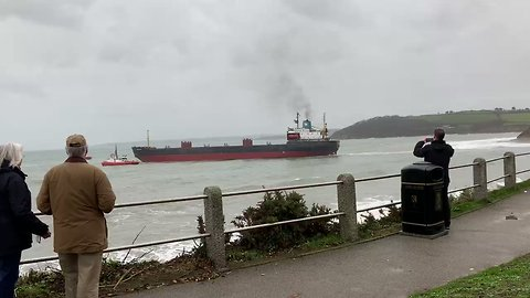Russian Cargo Ship Successfully Refloated at Cornwall