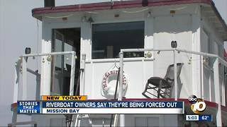 Owners of iconic Mission Bay boat face sudden eviction - Video