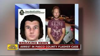Arrest made in Pasco County flasher case - Video