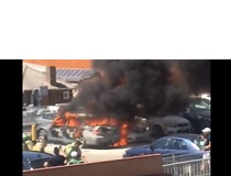 Car Bursts Into Flames at Liverpool Parking Lot - Video