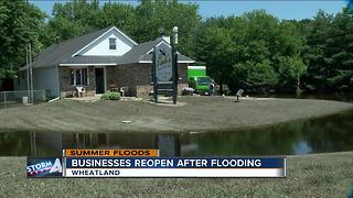 Businesses reopen after Kenosha County floods