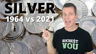The Value of Silver from 1964 to 2021