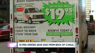Babysitters charged with child endangering after kids were found in back of U-Haul truck - Video