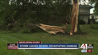 Cleanup begins after strong overnight storms in Liberty, Missouri