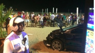 Driver Arrested After Crashing Car into Crowd on Rio de Janeiro's Copacabana Beach - Video