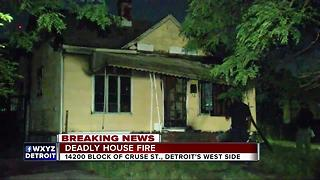 Man found dead in suspicious house fire in Detroit - Video
