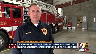 Franklin trying to retain volunteer firefighters