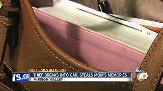 Thief breaks into car, steals mom's memories - Video
