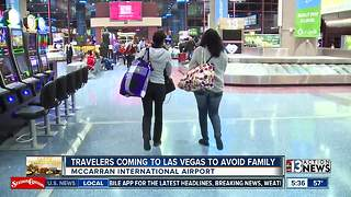 Travelers coming to Las Vegas to avoid family - Video