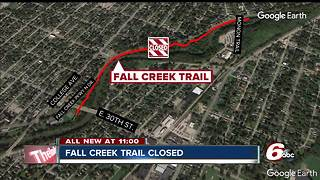 Portion of Fall Creek Trail closed while crews work on sewer project - Video