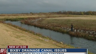 Bixby drainage canal concerns - Video