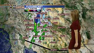 Rain returns to the Valley Tuesday - Video