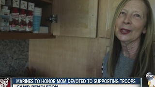 Marines to honor woman devoted to helping troops - Video