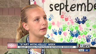 Middle school students participate in 'Start with Hello' week