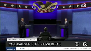 Candidates face off in first debate