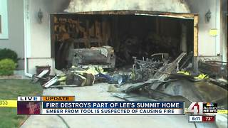 Fireworks-related fire in Lee's Summit destroys part of family's home - Video