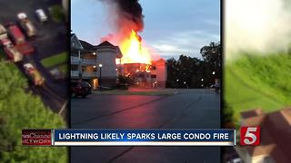 Fire Destroys Condo Building At Center Hill Lake - Video