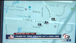 Fishers teens are sneaking out at night and requesting Uber rides - Video