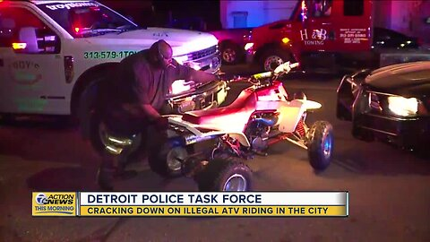 Detroit police task force cracking down on illegal ATV riding in city