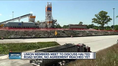 Union members meet to discuss halted road work, no agreement reached yet