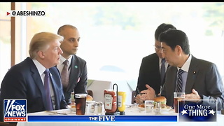 President Does 'Most Trump Thing Ever,' Orders Burger With Heinz Ketchup in Japan - Video